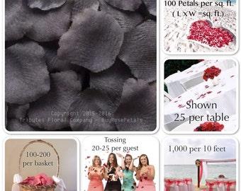 500 Pewter Rose Petals - Silk Rose Petals for Weddings