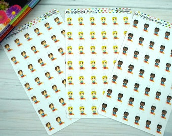 Mini D as Chef-Set of 42 stickers