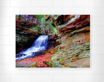 Scenic Wall Art - Rustic - Waterfall Photography - Autumn