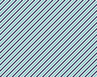 Pixie Noel by Riley Blake - Stripe Navy - Cotton Woven Fabric