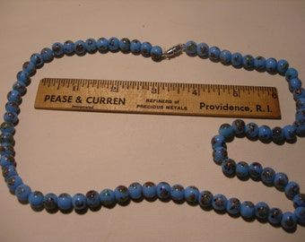 """Colorful Blue Glass Bead 18"""" Necklace(468)"""