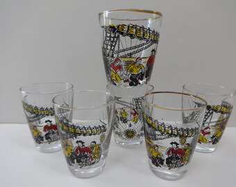 Glasses, Tumblers, Drinking Glasses, Barware, Pirate Glasses, Pirate Tumblers, Libbey, Libbey Glasses, Libbey Tumblers, Pirate Barware