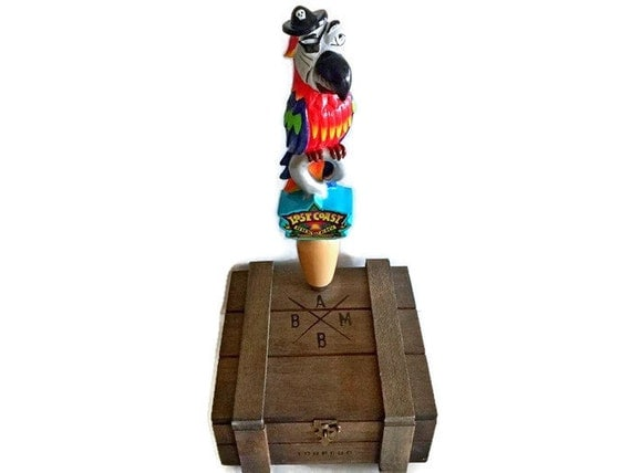 Pirate Parrot Lost Coast Tap Handle Rare Nautical Gift