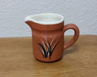 Ceramic Pitcher - (#126D) - Clear Glazed inside and Stained Terra-Cota on the outside