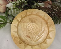 Wooden Unused Shortbread Mould ( Mold) with Thistle (5 inches