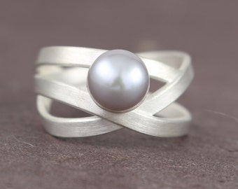 Pearl wrap ring