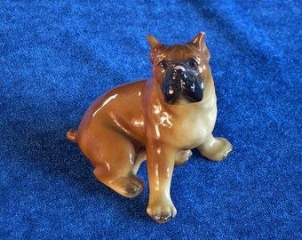 1940's Mortens Studio Boxer Puppy Dog Art Small Figurine