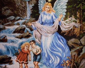 "Gobelin Tapestry Needlepoint Kit ""Angel""  printed canvas 135"