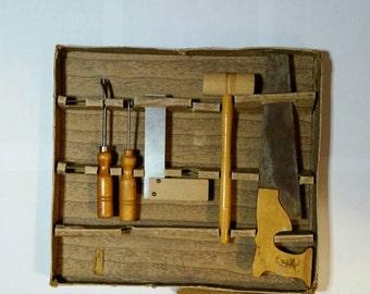 1950s Carpenter Tools Toy Set, With Original Box