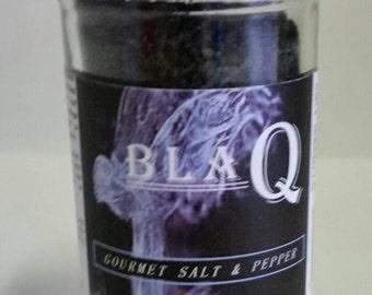 BlaQ is a Gourmet Salt & Chile Pepper Blend containing Hawaiian Black Lava Sea Salt and Ghost Chile