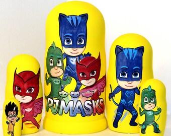 Nesting doll PJ Masks