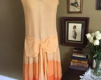 1920's Silk Ombré Dress