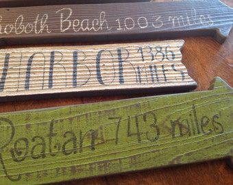 Directional Signs, Beach Signs, Weathered Signs, Outdoor Directional Signs, Wedding Signs, Beach Direction Signs, Rustic Signs,