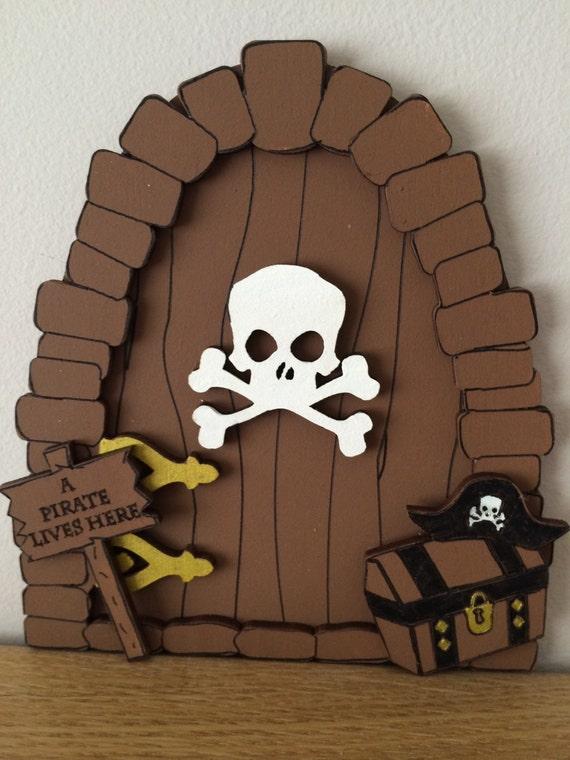 Boys fairy door pirate themed bedroom tooth fairy door for Fairy door for bedroom