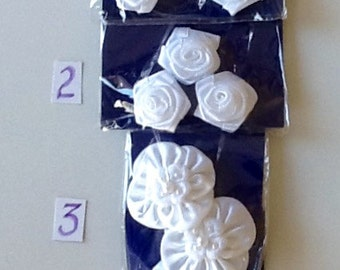 Bridal Satin, Pearl, and Sequin Components