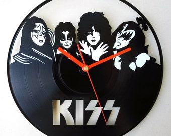 Vinyl wall clock - Kiss