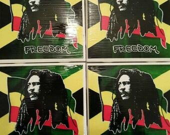 Bob Marley Freedom Coasters