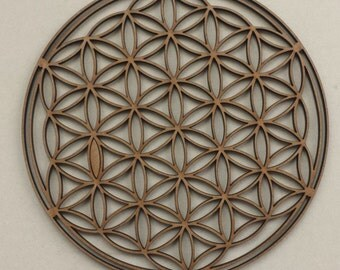 Sacred Geometry Wood Flower of Life for Wall Decoration