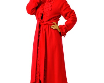 Red cashmere coat/Woman winter Luxury Cashmere coat/Woman coat/Red winter coat/100% wool cashmere coat/Luxury red coat/Handmade coat/C1372