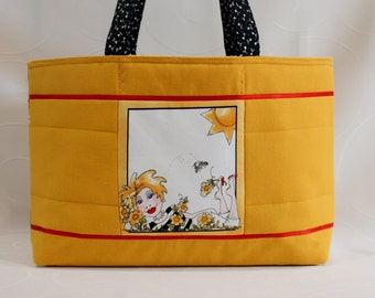 Yellow shoulder bag Loralie design