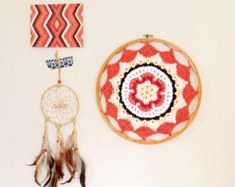 Crochet Mandala Dreamcatcher, Mandala Wall Hanging, Boho Home Decor, Nursery Wall Art, Sophie's Universe, Doily Mandala, Mandala Wall Decor