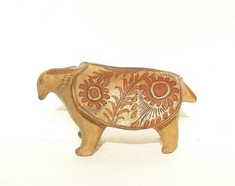Figural Coin Box, Mythological Money Box, Piggy Bank, Figurine Coin Bank, Rabbit Money Box, Folk Painted Coin Box, Money Box Handpainted