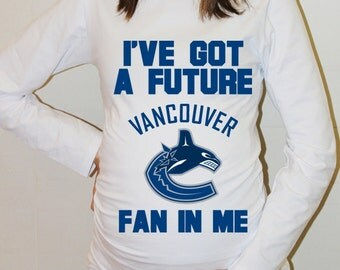 Vancouver Canucks Baby Hockey Vancouver Canucks Shirt Long Sleeve Boy Baby Shower Baby Girl Maternity Shirt Pregnancy New Baby