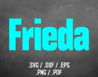 Frieda Font Design Files For Use With Your Silhouette Studio Software, DXF Files, SVG Font, EPS Files, Svg Fonts, Blocky Silhouette
