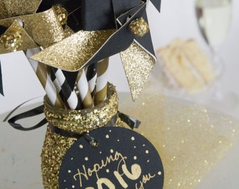 New Years Eve, New Years eve party, New Years, New Years party, Happy New Year, New years eve, New Years Eve Decor, black and gold, party