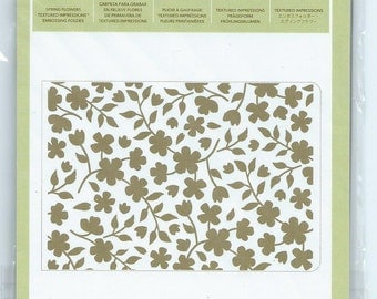 Stampin' Up Spring Flowers Sizzix Embossing Folder