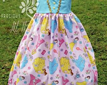 Girls Princess Dress- Toddler girls Princess Dress- Baby Girls Princess Dress- Cute Dress- Size 3m, 6m, 9m, 12m, 18m, 2t, 3t,4 t, 5t, 6, 8