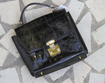 Vintage Faux Alligator Handbag