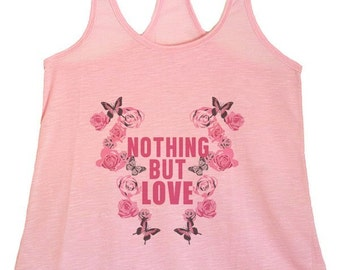Women's PLUS Nothing But Love  Graphic Print Tank Tops -1XL-3XL (pl-078-tp)