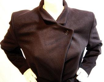 80s Autumn or winter coat / Cashmere + Wool / Hugo Boss