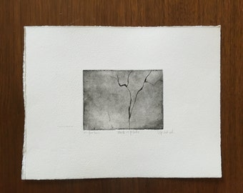Back of Plate - Intaglio Print - 1st Edition
