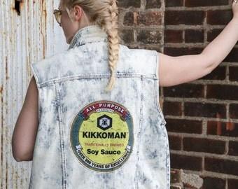 SALE! Kikkoman Soy Sauce Customized Jean Jacket - Vest