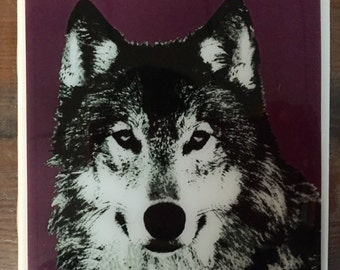 Wolf Graphic Tile Coaster
