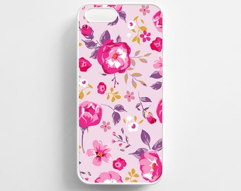 Pink Floral Pattern Flowers. iPhone 4/4s, iPhone 5/5s, iPhone 5c, iPhone 6, iPhone 6 Plus Case Cover 034