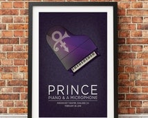 Prince Concert Print: 2016 Piano and Microphone Tour