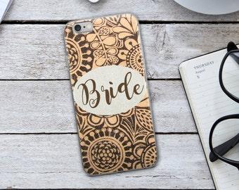 Bride iPhone Case - Burlap iPhone Case - Rustic iPhone Case - Bride Burlap iPhone Case - Bride Phone Case - iPhone Case - Bride to Be