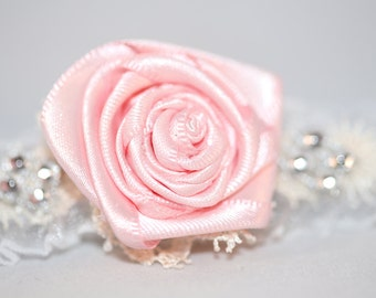Baby Pink Rose Headband (6-12 months)