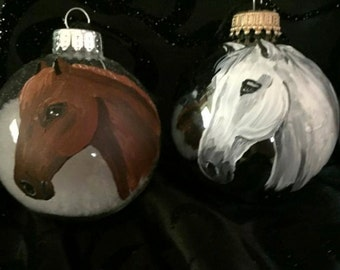 Hand Painted Horse Ornaments
