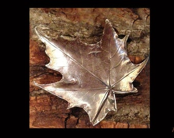 Fine Silver Leaf Pendant, Handmade Silver Jewelry, Maple Leaf Jewelry, Real Leaf Jewelry, Fall Pendant, Nature Pendant, Canadian Jewelry