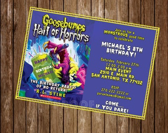 Goosebumps Personalized Digital or Printed Invitation