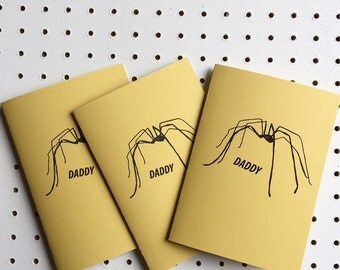 Handmade DADDY LONG LEGS original illustrated Father's Day card
