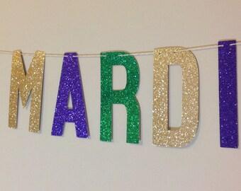 MARDI GRAS BANNER | Happy Mardi Gras Banner | Mardi Gras Decor | Mardi Gras Birthday | Mardi Gras Sign | Mardi Gras | Purple Green Gold