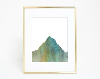 Mountain Print, Nature Decor Wall Art, Mountain Picture Wall Decor, Best Selling Digital Download Watercolor Art Printable Artwork Most Sold