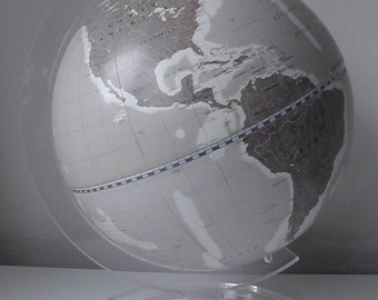 "Hand Painted Globe. Travel Gift. Custom Globe. World Globe 10"""