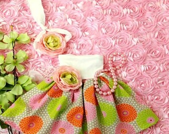 Mommy Miss Lily Dress Photo Prop Spring Dots