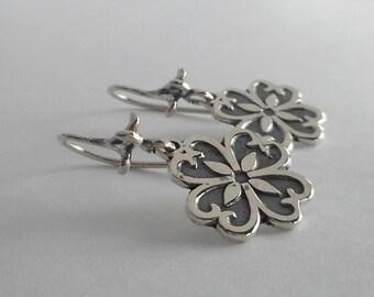 Sterling Silver Flower Earrings Made in Montana Fine Jewelry Gift under 30 Gift for Women Birthday Gift for Girls Dainty Flower Earrings